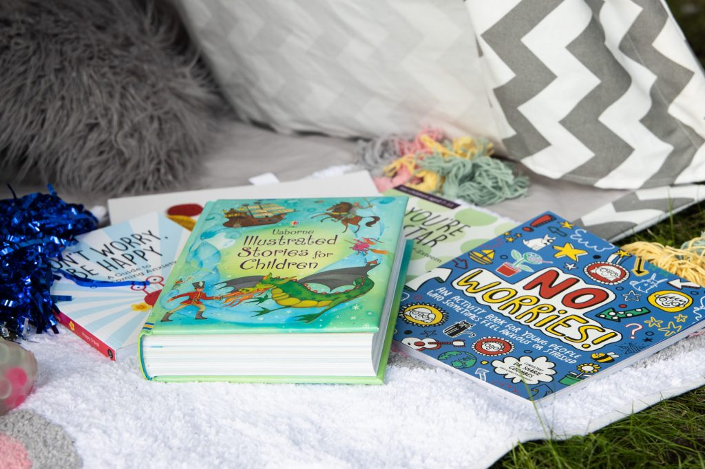 Children's Books on Blanket
